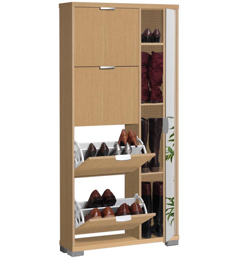 Foto mueble zapatero 4 trampones puerta espejo 160556 for Modelos de zapateros en melamina